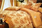 Комплект постельного белья из жаккарда с вышивкой