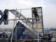 Установка рекламной конструкции на крыше,  монтаж крышной установки