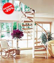 Винтовая лестница из ясеня -20%