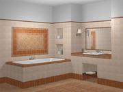 Красивый ремонт санузла и ванной комнаты. Облицовка кафелем