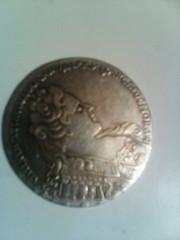 царская   серебяная монета :   Монета рубль 1733 года выпуска,  в хор
