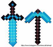Алмазный меч,  кирка и другие предметы Майнкрафт Minecraft