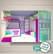 Дизайн магазина,  островка,  торгового оборудования. 3D моделирование.