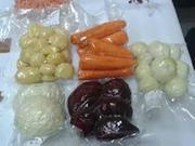 Вакуумированные овощи (Мытые,  очищенные)