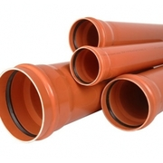Труба ПВХ для наружной канализации DN 110 160 200,  переход,  тройник